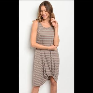 ❤️mocha striped dress